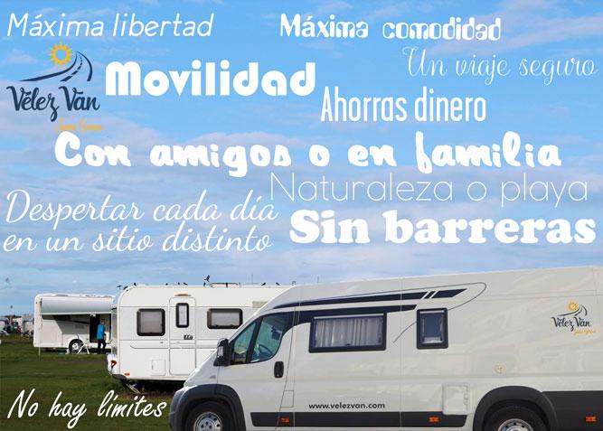 10 razones para viajar en autocaravana Vélez Van
