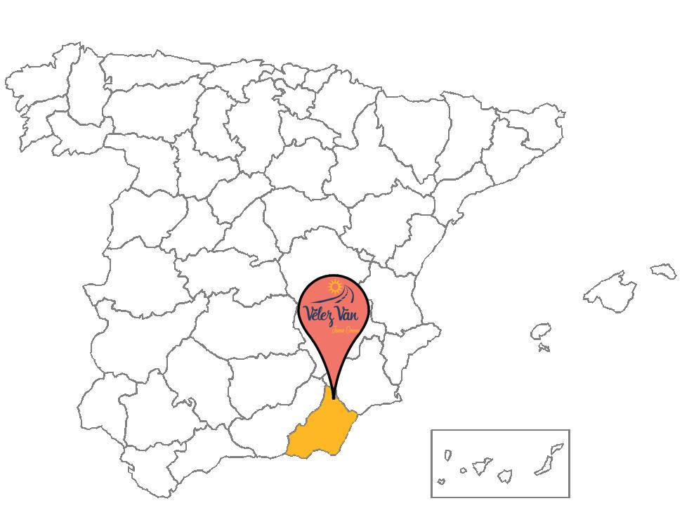 Mapa de Vélez Van en Vélez Rubio, Almería (Andalucía)